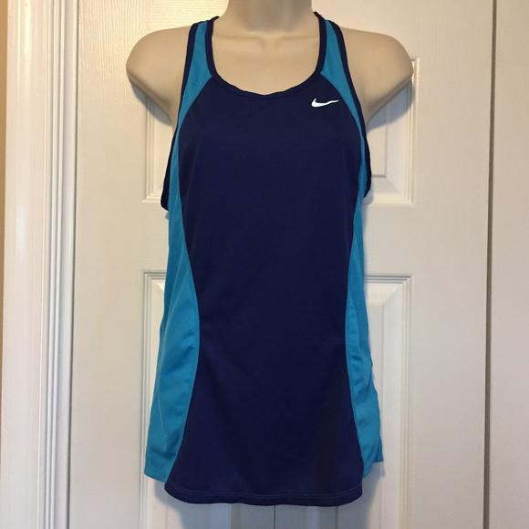 c97e69e654 CLEARANCE Nike Blue Mesh Dri Fit Tank Top Small